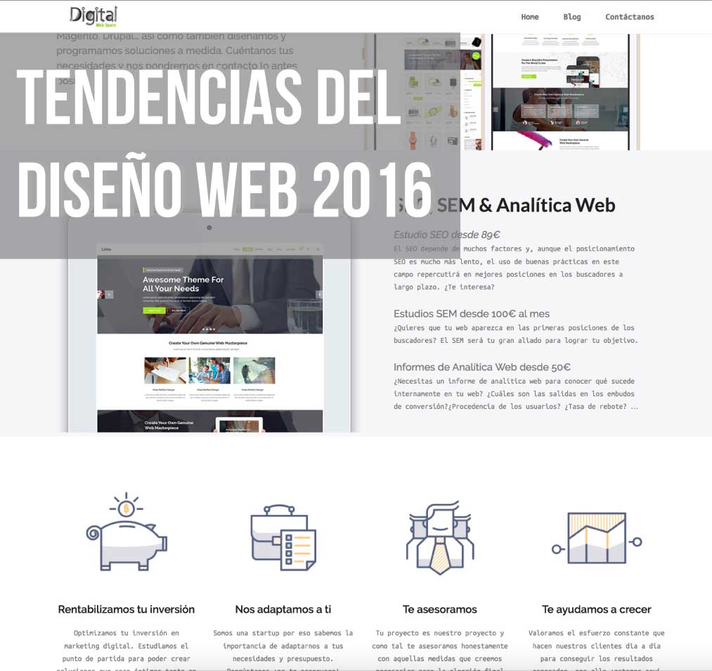 tendencias web 2016